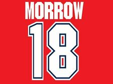 Morrow #18 Arsenal 1995-1996 Home Football Nameset for shirt