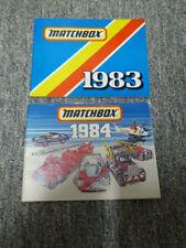 Catalogues Matchbox 1983 et 1984