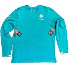 Miami Dolphins NFL On-Field Apparel Men's Long Sleeve Thermal Dri-Fit Sweater