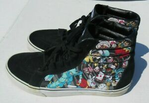 VANS Disney Alice in Wonderland Rabbit Hole High tops Shoes size 10