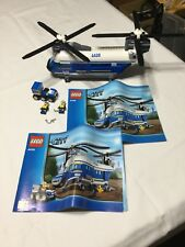 LEGO - City - Police - Heavy Duty Helicopter - 4439 missing one minifigure