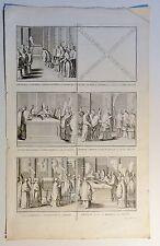 Bernard PICART (1673-1733) Kupferstich-Blatt um 1720 mit 5 Abb.: Vatikan (01