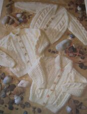 "Children's Aran Cardigans ~ (20""-30"" chest) ~ Aran Knitting Pattern"
