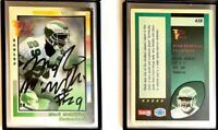 Mark McMillian Signed 1992 Wild Card #438 Card Philadelphia Eagles Auto Autograp