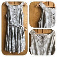 NEXT Beige Dress Polka Dot Vintage 50's Style Fit & Flare Dress Size  12