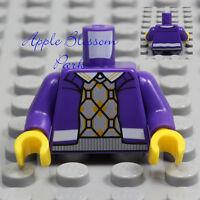 NEW Lego Minifig PURPLE JACKET TORSO Coat w/Boy Girl Sweater Vest & White Shirt