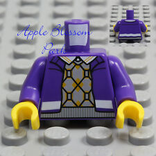 NEW Lego Minifig PURPLE JACKET TORSO Coat w/Boy Girl Sweater Vest & White Shirt