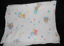 Riegel Teddy Beddy Bear Receiving Baby Blanket White Cotton Little Lambsy Dozy