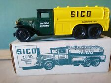 ERTL #9624 DIECAST METAL LOCKING BANK 1930 DIAMOND TANKER SICO GASOLINE IN BOX