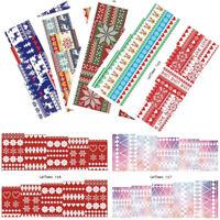 6 Sheets LEMOOC Weihnachten Elch Nagel Wasser Stickers Wassertransfer Nail Art