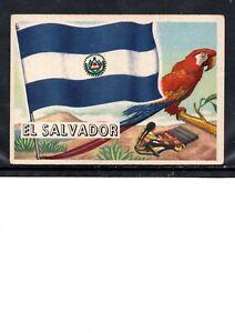 EARLY EL SALVADOR FLAG TRADE CARD, NATIONAL FLAG OF EL SALVADOR