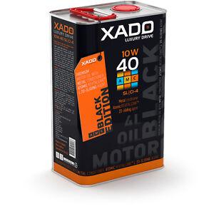 Xado L'Huile de Moteur 10W40 Black Edition Sl/CI4 Synthétique Usure Schutz 4L