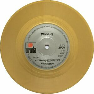 """WINNERS 'GET READY FOR THE FUTURE' VINYL 7"""" SINGLE (AROE 144) GOLD COLORED VINYL"""
