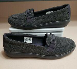 Grasshopper Windsor Memory Deluxe Women Size 8 Gray Loafer Comfort Shoes