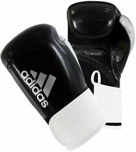 Adidas Hybrid 65 Boxing Gloves 10oz training sparring Black White NEW