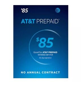 AT&T Prepaid (Formerly GoPhone) $85 Refill, fast & right