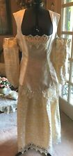Renaissance/Medieval 3pc Dress Rev. Bodice Costume Royal Throne Wedding Sca M/L