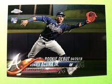 Ronald Acuna Jr. 2018 Topps Chrome Update Rookie Card #HMT31 Atlanta Braves