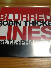 """ROBIN THICKE Ft T.i & PHARRELL """"BLURRED LINES"""" 6 Remixes - New 6 Trk Promo Cd"""