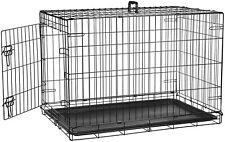 AmazonBasics Single-Door Folding Metal Dog Pet Crate - 36 Inches