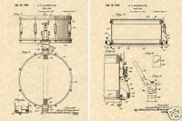 1939 SLINGERLAND RADIO KING SNARE DRUM Patent Art Print READY TO FRAME!!!