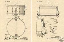 1939 SLINGERLAND RADIO KING SNARE DRUM Patent Art Print READY TO FRAME!!!