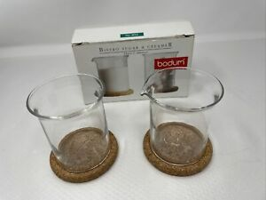 Bodum Bistro Cream And Sugar Glass Cork Bottom