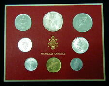 1971 Italy Vatican complete set coins UNC with silver in official box