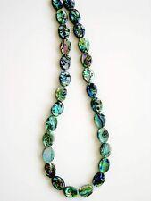 Paua abalone two side flat oval beads 10x14mm