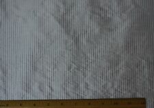 "White Pinstripe Dupioni Stripes 100% Silk Fabric 54"" Wide, By The Yard (SD-638A)"