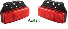LED Trailer Lights 3 Years warranty , Rear Marker Red Pair+Bracket