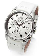 D&G Dolce & Gabbana SANDPIPER 37197700084 Herren Chronograph Leder Weiß Armband