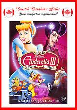Cinderella III: A Twist in Time (DVD, 2007)
