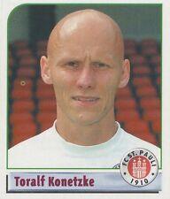 N°187 TORALF KONETZKE # DEUTSCHLAND FC.ST PAULI STICKER PANINI BUNDESLIGA 2002