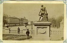 PHOTO BELGIQUE belgium BRUXELLES statue homme nu de dos fesses circa 1890
