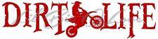 DIRT LIFE DIRT BIKE RACING VINYL DECAL FREE STYLE X GAMES VEHICLE CAR STICKER