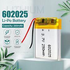 3.7V 250mAh 602025 Li-ion Polymer Li-Po Rechargeable Battery For Mp3 MP4