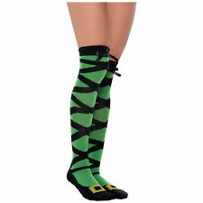 Ladies Girls Lace Up Witch Long Knee High Socks Gift Novelty Witches Harry