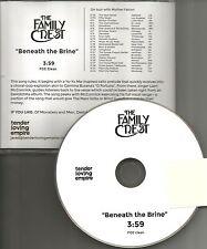 THE FAMILY CREST beneath brine PROMO DJ CD single 2014 w/ TOUR DATES mars Volta