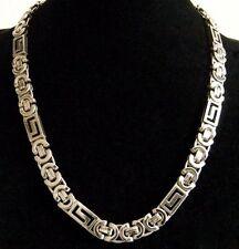 Lujo Collar para los hombres Mujer Acero Cadena Collar 002 PLATA