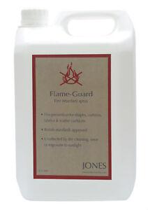 5 Ltr Fire & Flame Retardant Spray Curtain Upholstery Fabric Cushion Etc