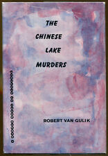 The Chinese Lake Murders by Robert van Gulik-A Judge Dee Mystery-1st Ed./DJ-1960