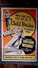 Shotgun Wedding 1sh movie poster ED WOOD Jenny Maxwell OZARKS Valerie Allen 63