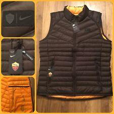 4B9 Sz M AS Roma Authentic Down Vest 17/18 Men's Bodywarmer Vest 867922-224