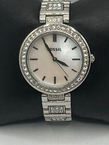 Fossil BQ3480 Womens Silver Stainless Steel Analog Dial Quartz Wrist Watch OP377