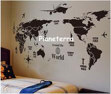 Wall Stickers Adesivi Murali Mappa Mondo Adesivo Murale da Parete Casa Cucina