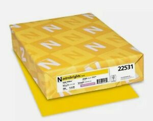 Neenah Astrobrights Paper 22531 Solar Yellow Paper, 8.5x11 With 500 sheets Pack