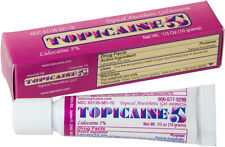 TOPICAINE 5%- Lidocaine Gel (10 gram tube) Anesthetic Skin Numbing Cream