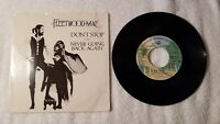 "FLEETWOOD MAC Don't Stop PROMO 7"" Vinyl Single 45 Mono Stereo PICTURE SLEEVE"