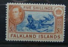 Falkland Islands 1938 - 1950 5s MM
